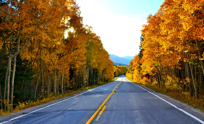 Scenic drive, Colorado, Fall Colors in Colorado