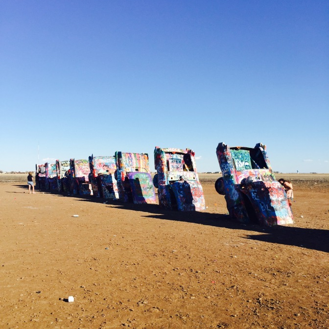 Cadillac Ranch, Amarillo, Texas, Route66, Route 66
